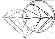 Jasnoća kamena dijamanta VS1 - VS2