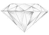 Diamant farve D