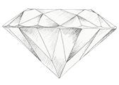 Diamant farve E